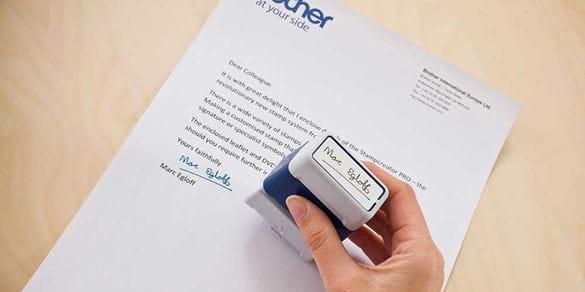 Brother Stamp Creator Pro handtekeningen en andere afbeeldingen
