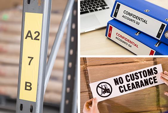 DK tapes continuous labels