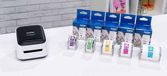 CZ labelrollen met VC-500W kleurenlabel printer