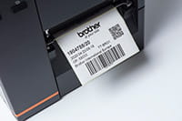 Barcode label printing from Brother TJ industrial printer