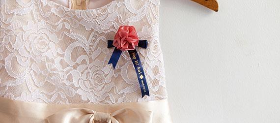Ruban pour broches personnalisées pour les demoiselles d'honneur