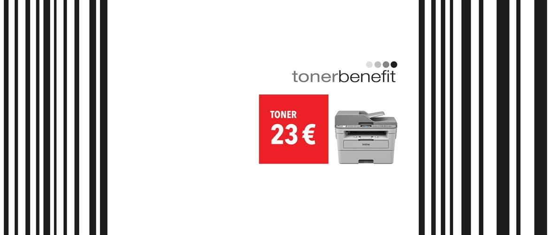 Slika Brother tonerbenefit s tiskalnikom in črtno kodo