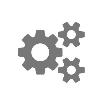 Tri ozubené koliečka ikona