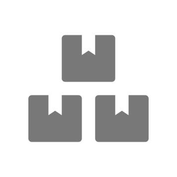 Ikona treh sivih škatel