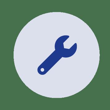 Plava ikona francuski ključ