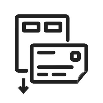 Ikony šablon štítků