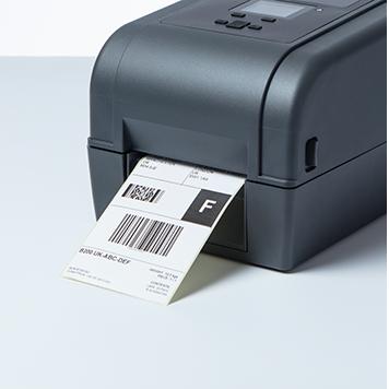 Stolní tiskárna štítků Brother TD-4T s tištěným přepravním štítkem