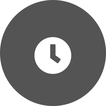 Бял часовник на фона на сив кръг