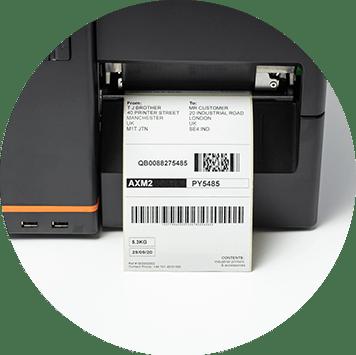 Drukowanie oznaczeń wysyłkowych z przemysłowej drukarki etykiet