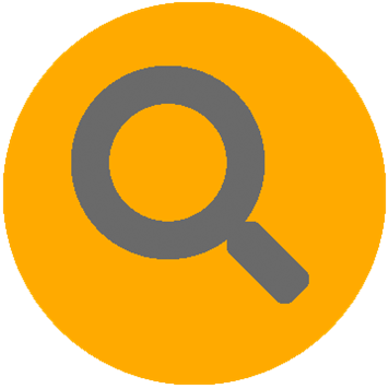 Žlutá ikona identifikace síťové infrastruktury