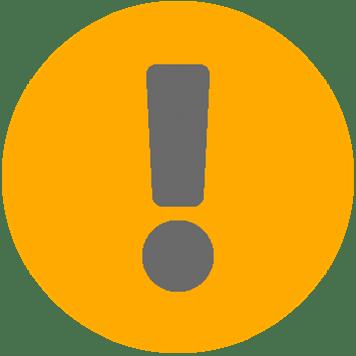Žlutá ikona řešení potíží síťové infrastruktury