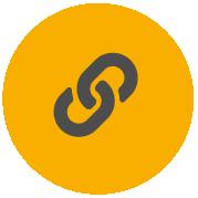 Ikona taśmy Pro-Tape pokazująca ogniwa łańcucha, wskazująca mocne kleje i twarde materiały