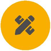 Ikona taśmy Pro-Tape przedstawiająca ołówek i linijkę, przeznaczona dla profesjonalistów