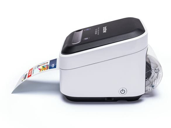 Принтер за цветни етикети Brother VC-500W, отпечатва фото етикет