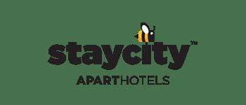 Staycity logo s čebelo