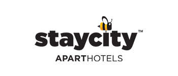 Logo se včelou hotelu Staycity