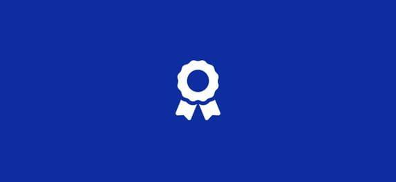 ikona pre informácie na modrom pozadí
