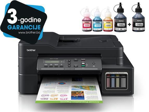 DCP-T710W InkBenefit Plus tintni višenamjenski uređaj Brother s logotipom 3 godine jamstva i bočicama tinte