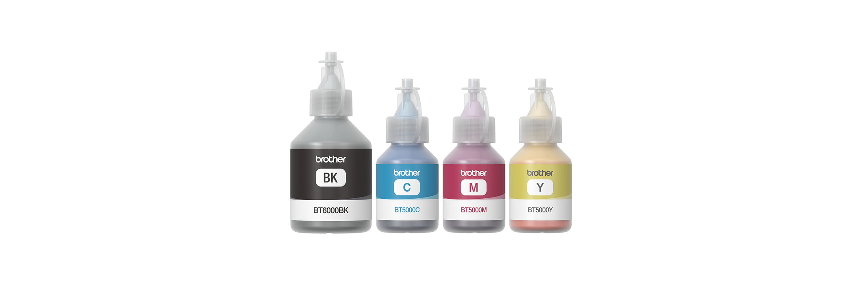 Řada inkoustových lahviček do tiskáren