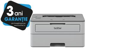 HL-B2080DW printer with 3 years warranty sticker