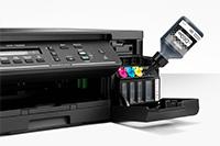 DCP-T520W  készülékbe tinta átfolyatása kézi segítség nélkül