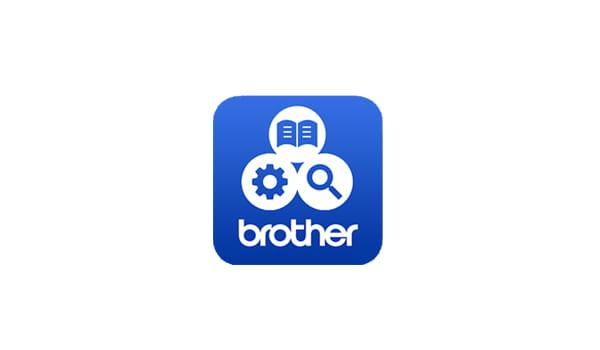 Logo aplikacije Brother support centre na bijeloj pozadini