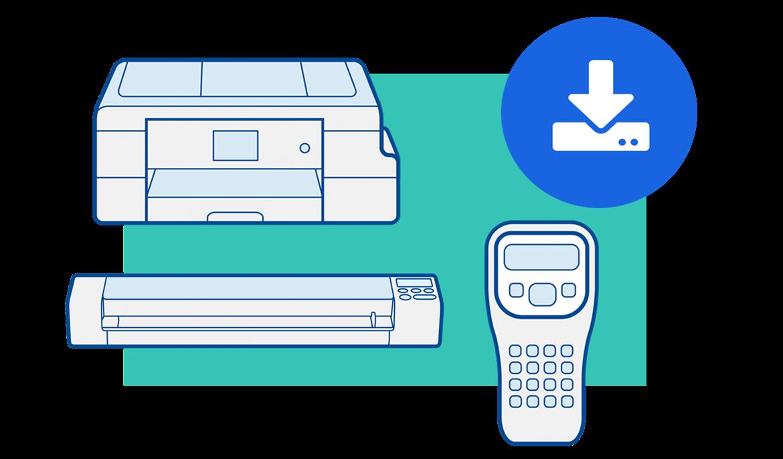 Ikona podpory stahování do mobilního zařízení