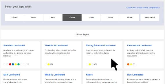 Grafika prikazuje interaktivni izbornik traka TZe Pro