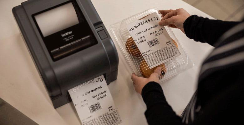 označovanie tovaru štítkami vytlačenými na tlačiarni Brother TD-4T