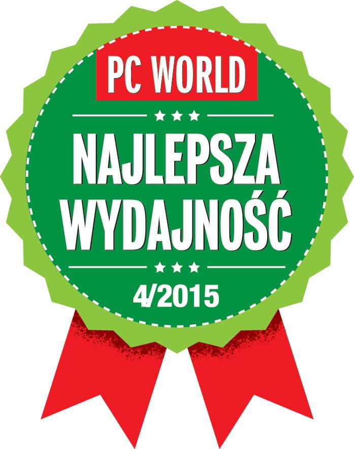 Odznaczenie PC World Najlepsza Wydajność 2015
