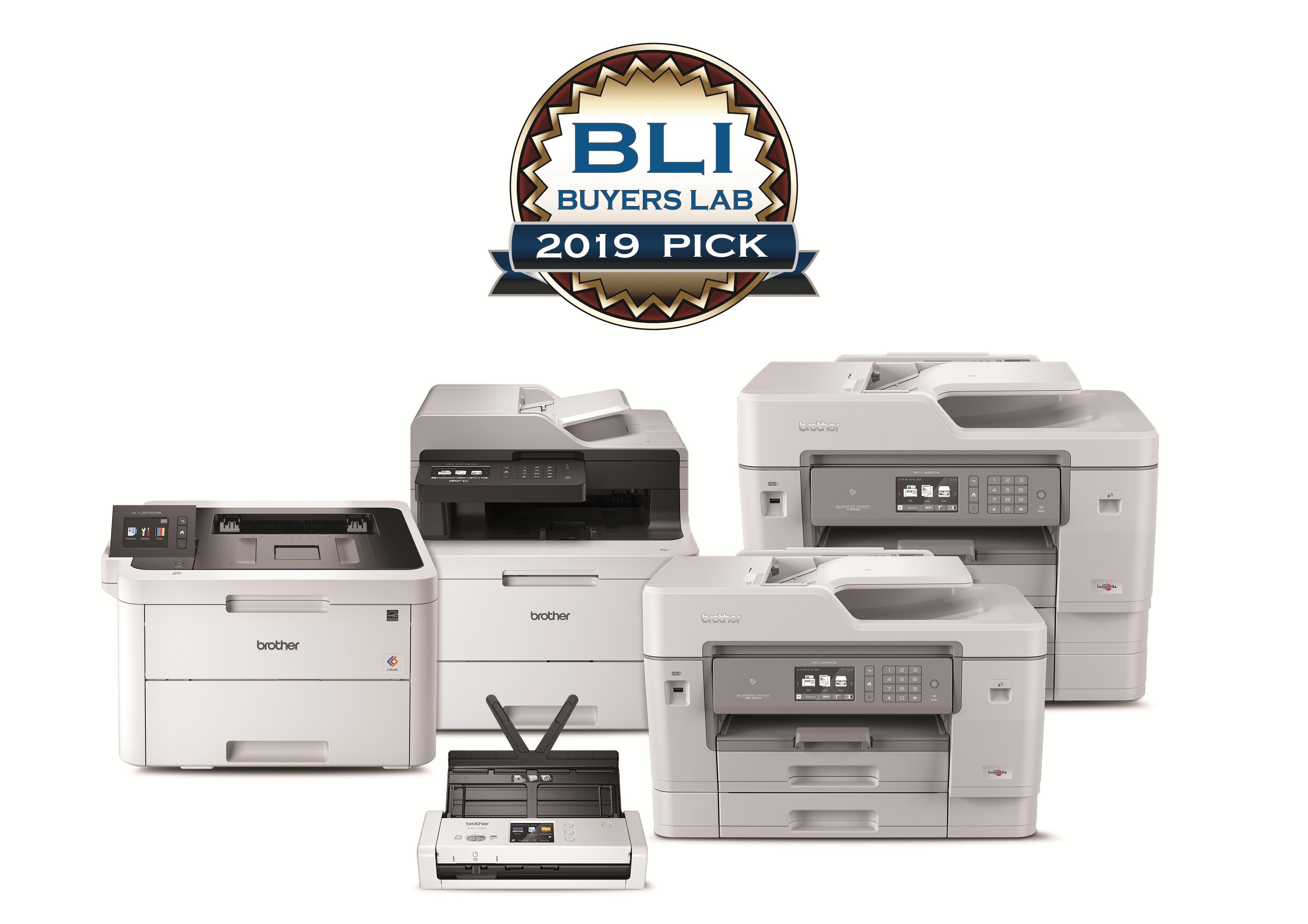 Wyróżnienie BLI Buyers Lab 2019 Pick dla urządzeń Brother