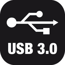 Ikona super rychlého rozhraní USB 3.0