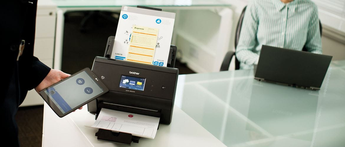 A fax document printing out from Brother fax machine