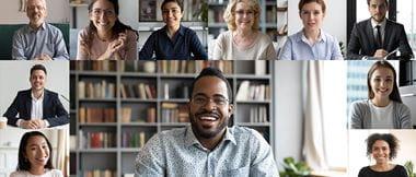 Gruppe von Menschen in einem Video Chat