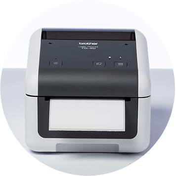 Brother TD-4D Desktop-Etikettendrucker mit Blanko-Etikett