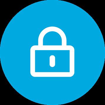 Weißes Profi-Symbol auf blauem Hintergrund