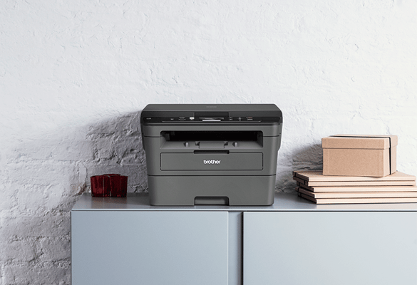 Brother laser printer in home office environment