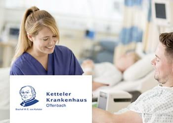 Krankenschwester mit Patienten im Krankenhaus Ketteler