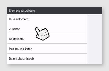 Upgrades - Screenshot - Verbrauchsmaterial anfordern
