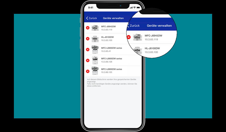 MySupplies-App Geräte Verwalten