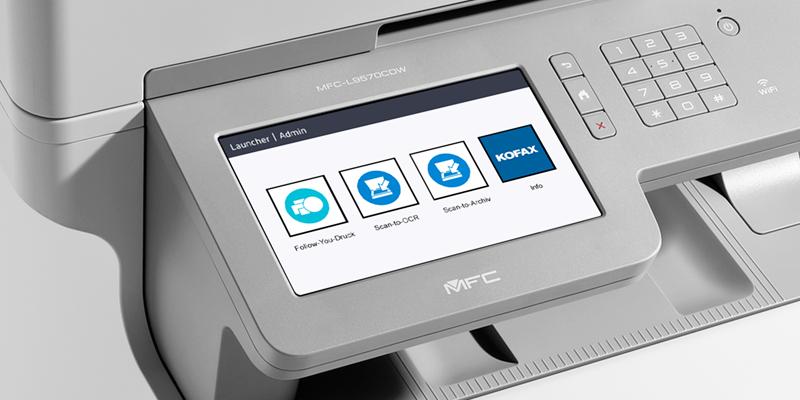 Brother Multifunktionsdrucker mit KOFAX Benutzeroberfläche
