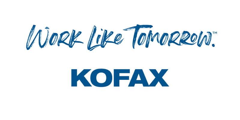 KOFAX Logo mit CLaim - Work like Tomorrow