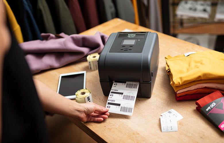 TD desktop label printer printing RFID product labels