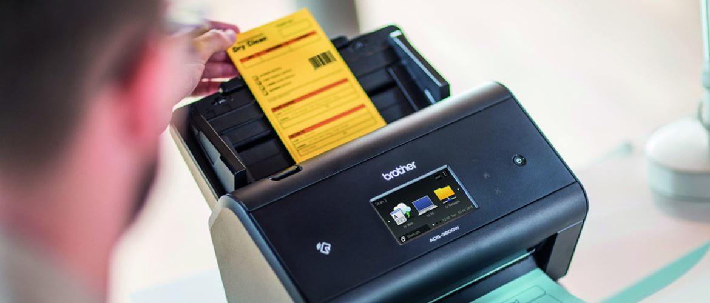 Utilizando escáner con Barcode ADS-3600W Brother