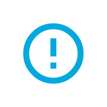 Icono error color azul