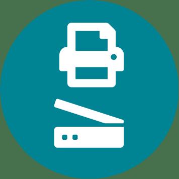 Compact office inkjet - multifunction icon