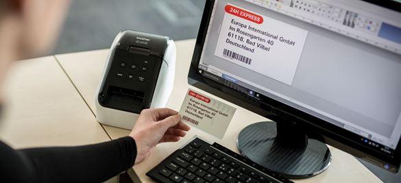 Imprimiendo etiqueta a negro y rojo con QL-810W Brother