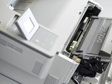 Detalle frontal impresora Brother