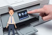 Pantalla impresora multifunción tinta DCP-J1100DW All in Box