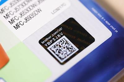 Holograma de la etiqueta de seguridad consumibles tinta